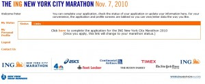 Registrierung New York Marathon Lotterie Step4
